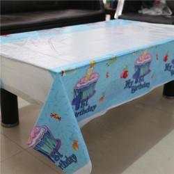 1 Yaş Mavi Desenli Masa Örtüsü