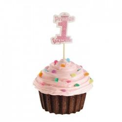 1 Yaş Pembe Cupcake Muffin Kürdanı 20 Adet