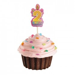 2 Yaş Pembe Cupcake Muffin Kürdanı 20 Adet