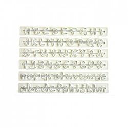 Alfabe ve Rakam El Yazısı Şeker Hamuru Cetvel Seti 6'lı