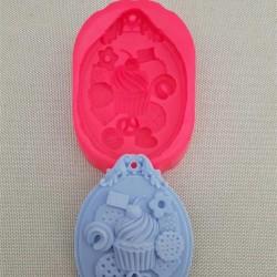 Cupcake Bisküvi Sabun Kokulu Taş Silikon Kalıp