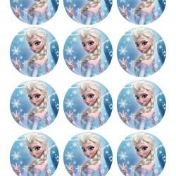 Elsa Frozen Yenilebilir Kurabiye Resim Baskısı
