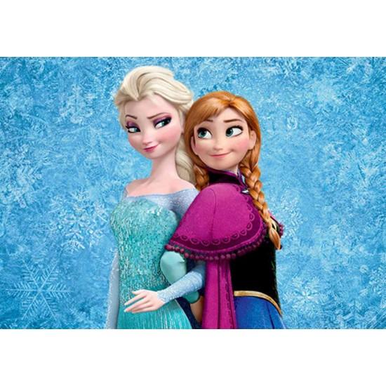Frozen Elsa&Anna Yenilebilir Pasta Resim Baskısı