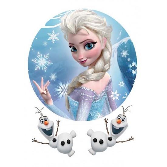 Frozen Elsa&Olaf Yenilebilir Pasta Resim Baskısı
