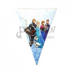 Frozen Karlar Ülkesi Doğum Günü Afiş Flama 2m