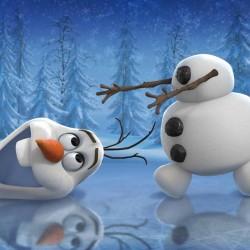Frozen Karlar Ülkesi Olaf Yenilebilir Pasta Resim Baskısı