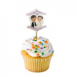 Gelin Damat Cupcake Muffin Kürdanı 20 Adet