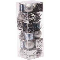 Gümüş Lüks Çam Ağacı Süsleme Seti