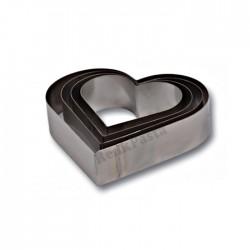 Kalp Çember Set 4'lü Pasta Kek Kalıbı 7 cm
