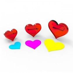 Kalp Kesici & Transfer Şeker Hamuru Baskı Seti