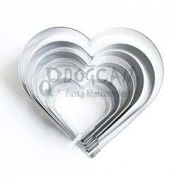Kalp Volovan 6'lı Set Kurabiye Kalıbı