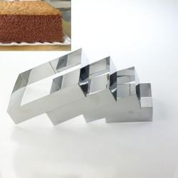 Kare Çember Set 4'lü Pasta Kek Kalıbı 10 cm
