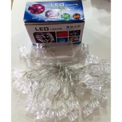 Küp Şekilli Renkli Led Işık Pilli Yılbaşı Ağacı Işığı