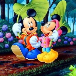Mickey&Minnie Mouse Yenilebilir Pasta Resim Baskısı