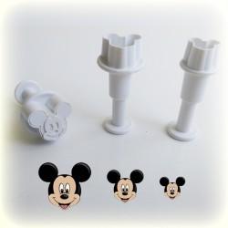 Mickey Mouse Figürlü 3'lü Küçük Boy Enjektör Seti