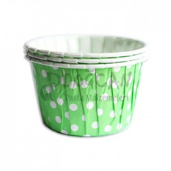 Muffin Cupcake Yeşil Puantiyeli Pet Kapsül 20'li