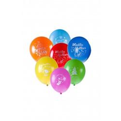 Mutlu Yıllar Karışık Renkli Yılbaşı Balonu 6'lı
