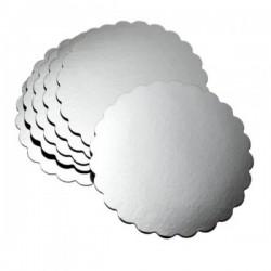 Yuvarlak Pasta Altlığı Gümüş Silver 22 cm