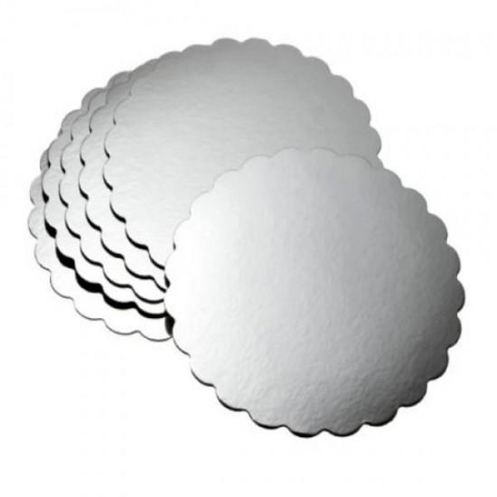 Yuvarlak Pasta Altlığı Gümüş Silver 28 cm