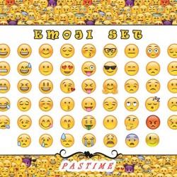 Pastime Emoji Şeker Hamuru Patchwork Baskı Seti