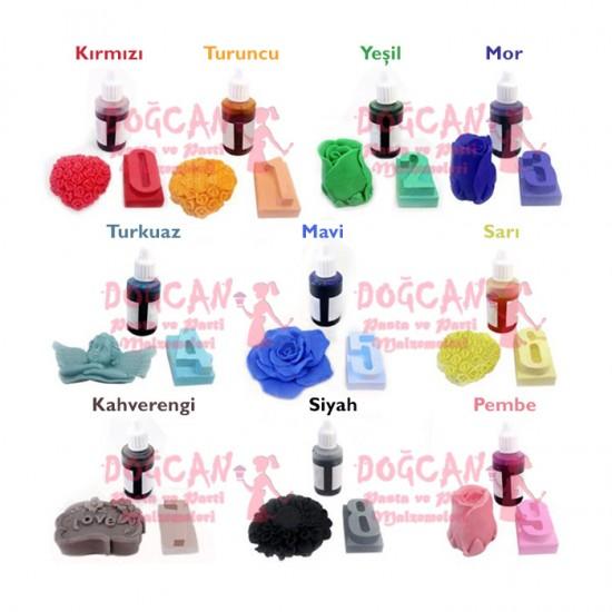 Pembe Sabun ve Kokulu Taş Boyası Sıvı 50 gr