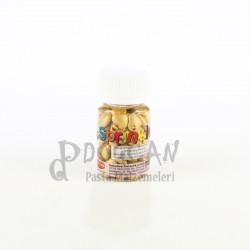 Sarı Büyük Boy Kalp Draje Süsleme Şekeri 8mm