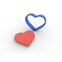Tırtıklı Kalp PC Şeker Hamuru ve Kurabiye Kalıbı