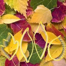 Yapraklar Şeker Hamuru Çiçek Yapım Seti 4'lü