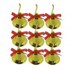 Yılbaşı Çam Ağacı Süsü 9'lu Altın Çan