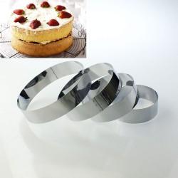 Yuvarlak Çember Set 4'Lü Pasta Kek Kalıbı 10 cm